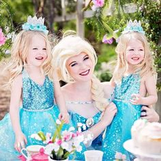 Stunning Princesses in @bellethreads wearing our gorgeous Elsa Tutu Sparkle Romper and crowns by @lovecrushbowtique  If you're having a princess party, Frozen birthday or Disney trip then your Frozen princess needs thus!  Photography: @jwolfphotography (Utah)