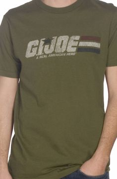 Distressed Army Green GI Joe T-Shirt: GI JOE Mens T-shirt