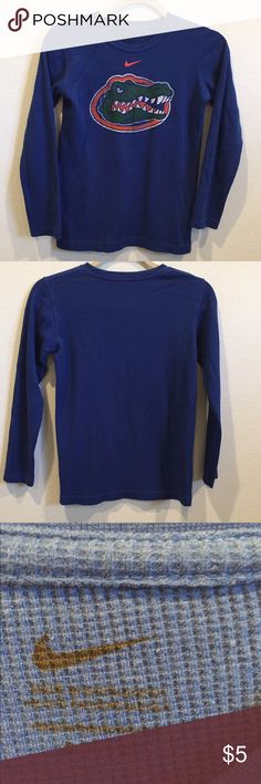 Nike Gator kids thermal top Great top for kids to wear at Gator games or play! Nike Shirts & Tops Tees - Long Sleeve