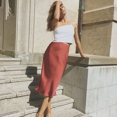 Summer Skirts, Casual Skirts, Workwear, Thrifting, Midi Skirt, Fashion Inspiration, Clothes, Dresses, Outfits