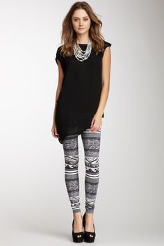 So jelly my mom already has these!!!! DOMINO Aztec Print Legging