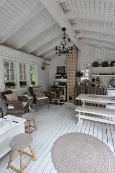 <3 Summer House Interiors, Rustic House, House Design, Home And Living, Interior Design Bedroom, Cottage Decor, Home Decor, House Interior, Modern Kitchen Design