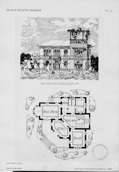 Villas and modern villas: projects and sketches of facades and plants Tav. 44