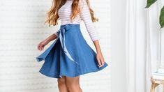 "Eine Anleitung von Stefanie Brugger aus dem Buch ""Kleidung nähen ohne Schnittmuster"". Diy Dress, Dress Up, Sewing Clothes, Clothing Patterns, Diy And Crafts, Midi Skirt, High Waisted Skirt, Couture, Summer Dresses"