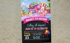 Shopkins Birthday Invitation Shopkins Invitation by Yolishop03