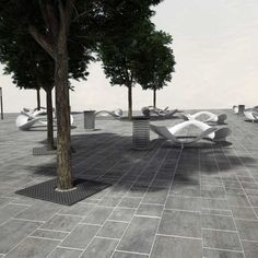 urban square by Radu Şerban, via Behance