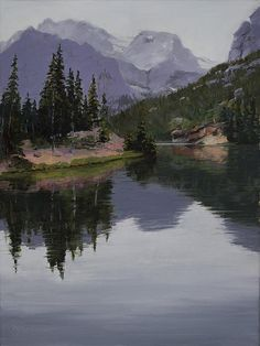 This painting is from hiking to The Loch in Rocky Mountain National Park, Colorado. I have been up there many times and painted this scene in different seasons & moods. Peaceful Places, Mountain Paintings, Framed Prints, Canvas Prints, Paintings For Sale, Rocky Mountains, Serenity, Art Photography, Original Art