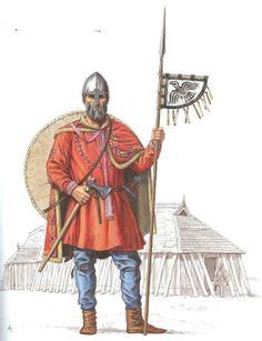 Siglo X. Vikingo de Mammen (Dinamarca)