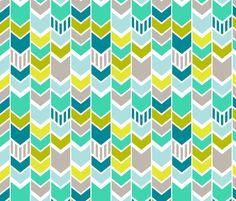 ModBlueChevron fabric by mrshervi on Spoonflower - custom fabric