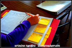 Young Teacher Love: Writing long off post-its. Getting your students to stretch their writing when responding to a text during reading.