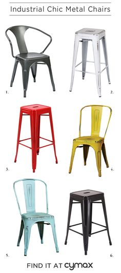 Industrial Chic: Metal Chairs.