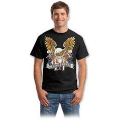 Tricouri cu vulturi – Tricou Rolling Thunder Bad To The Bone, Graphic Design Inspiration, Mens Tops, Vintage, Choppers, Spirit, Fashion, Moda, Fashion Styles