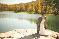 pondside ceremony wedding at wolf oak acres