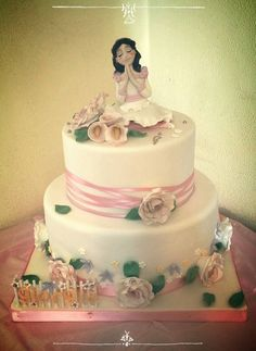 communion cake, roses cake