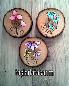 Image may contain: food - - Kinderspiele Wood Slice Crafts, Barn Wood Crafts, Wood Burning Crafts, Wood Burning Patterns, Wood Burning Art, Wooden Crafts, Rock Crafts, Diy And Crafts, Arts And Crafts