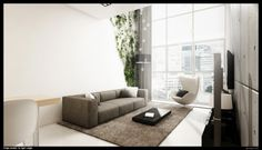 Classy, Modern Interiors Visualized by Grzegorz Magierowski