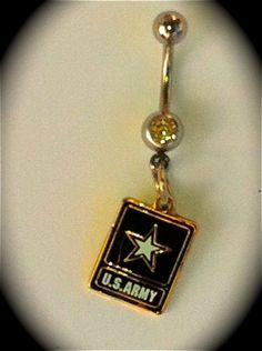 U.S. Army Belly Ring The perfect way to support your Soldier!