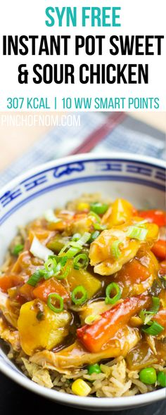 Syn free instant pot sweet and sour chicken pinch of nom slimming world recipes 307 kcal syn free 10 weight watchers smart points sugar pink food Slimming World Recipes Syn Free, Slimming World Diet, Slimming Worls, Slimming World Chicken Recipes, Diet Recipes, Cooking Recipes, Healthy Recipes, Healthy Food, Slow Cooking