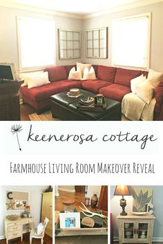 So now that you've seen all the other rooms in my cozy farmhouse cottage, let's see the farmhouse living room.This is the most used room in our entire home!