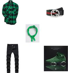 Green Outfits, Swag Outfits Men, Flannel Outfits, Dope Outfits, Fashion Outfits, Hip Hop Fashion, Fashion Art, Mens Fashion, Men Art