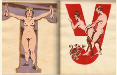 The Soviet erotic alphabet picture book from 1931 Alphabet Pictures, Exotic Art, Alphabet Book, Russian Alphabet, Art For Art Sake, Illustration Art, Artsy, Drawings, Books