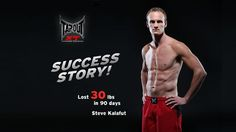 "TapouT XT®  Success Stories: Steve by TapouT XT. Check out Steve ""The Grinder"" get ripped in 90 days with TapouT XT®.  Steve lost 30 lbs and 5 inches off his waist.  Go on Steve's 90 day journey and see him work out on the road, in his home and with TapouT XT creator, Mike Karpenko.  If you buy TapouT XT you will see a lot more of Steve.  Learn more at www.tapoutxt.com"
