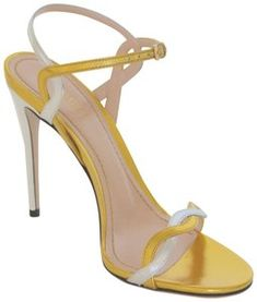 23b838ba6f78 Gucci Gold   Silver Napa Leather Eu 38.5 Italy Sandals Size US 8.5 Regular  (M, B) 45% off retail