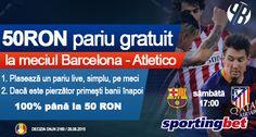 50 RON pariu online gratuit la Barcelona vs Atletico Madrid - Ponturi Bune