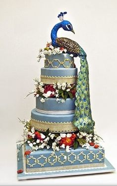 Peacock Cake: Design by Ron Ben-Israel / http://www.my-wedding-concierge.com/Search-Results.php?=10=1=Ron%20Ben%20Israel%20peacock%20cake=Blog=1==2