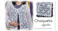 Chaqueta de verano al crochet / patrones y video Diy, Tops, Women, Fashion, Models, Dresses, Crochet Jacket, Crochet Edgings, How To Knit