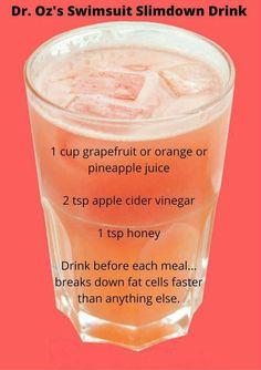 Dr Oz fat blaster drink...wonder if it works...