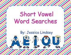 This product has word searches for the a, e, i, o, and u vowels. There is an easy word search for each vowel, along with a more difficult word search.