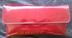 Vintage-Merle-Norman-Red-Vinyl-Purse-Gold-Chain-W-Cosmetic-Samples-FREE-S-H-NEW