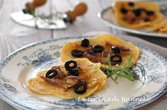 Socca | Farinata di ceci alle cipolle caramellate | La cucina di Hanneke