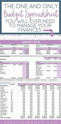 Easy Family Budget Spreadsheet Easy Budget and Financial Planning Spreadsheet for Busy Families / How to make a budget/ Excel budgeting spreadsheet / monthly budgeting / budgeting for beginners / budgeting tips / financial planning for beginners Financial Peace, Financial Tips, Financial Planning, One Main Financial, Planning Excel, Planning Budget, Family Budget Planner, Family Planning, Budgeting Finances