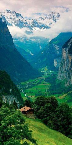 Interlaken, Switzerland in the Bernese Alps w Astrid