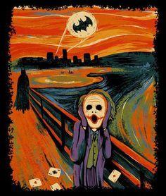 Munch, Jocker and Batman