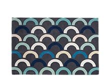 Loop Rug 160 x 230cm, Grey and Peppermint Mix