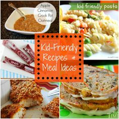 List of Kid Friendly Recipes and meal ideas
