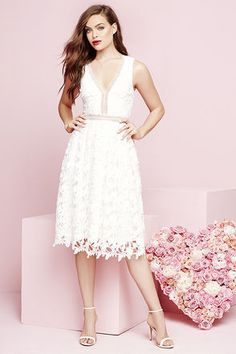 1828f5d0d4cc Beloved Bloom Ivory Lace Midi Dress at Lulus.com! Full Midi Skirt, Lace