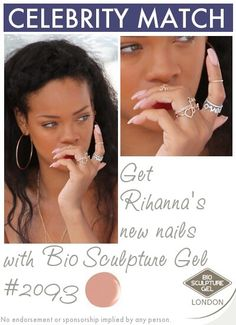 Get Rihanna's new nails with Bio Sculpture Gel Bio Sculpture Gel Nails, Celebrity Nails, Strong Nails, Artificial Nails, Nail Colors, Colours, Gel Nail Art, Love Nails, Ongles