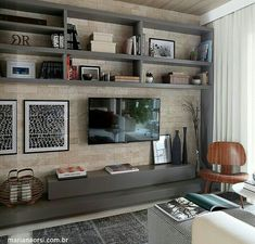 Ideas For Living Room Decor With Tv Home Theaters Living Room Tv, Home And Living, Family Room, Home And Family, Home Theater Design, Home Tv, House Design, Interior Design, Luxury Interior