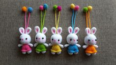 Bunny Key chain  Pattern by : Nan zaa