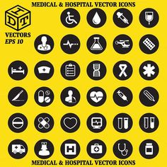 Medical & Hospital Vector Icons by Idette Designs™ on @creativemarket