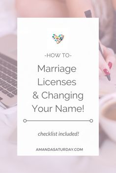 I know, this is the annoying part of getting married; all that paperwork! But if you want your marriage to be legally recognized, you have to take the boring  wi