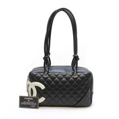 CHANEL Bowling Bag Cambon Shoulder bags Black Leather A25171