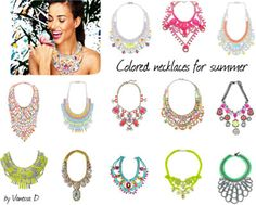 Colored necklaces for summer-2