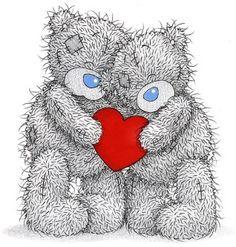 Alfabeto de Me to You Bears abrazados.