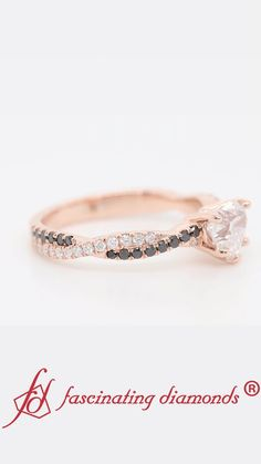 Shop heart shaped twisted vine engagement ring for women with black diamond in rose gold at Fascinating Diamonds. This diamond engagement ring is designed in Prong setting Popular Engagement Rings, Rose Gold Engagement Ring, Best Diamond, Black Diamond, Fashion Accessories, Fashion Jewelry, Women Jewelry, Heart Shaped Diamond, Delicate Rings