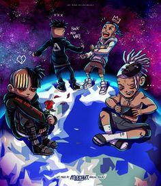 Evolution of X Evolution of Legend Cartoon Edits, Dope Cartoon Art, Cartoon Art Styles, Anime Rapper, Rapper Art, Best Gaming Wallpapers, Dope Wallpapers, Rap Wallpaper, Cartoon Wallpaper